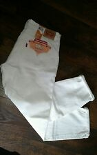 Womens Levis 501 Ct 31 Jeans Boyfriend Fit Mid Rise Tapered Leg White 178040008