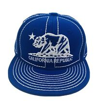Pitbull California Republic Bear Embroidered Youth Blue Baseball Hat Cap Nwot