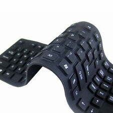 Foldable Keyboard For PC Blue Waterproof 85/109 Key USB Silicone Rubber Flexible