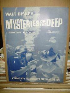 MYSTERIES OF THE DEEP, uncut 4pg prbk [Disney True Life Adventure] - 1959