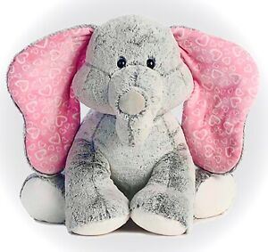 "JUMBO! 30"" NEW AURORA WORLD LOTS OF LOVE GRAY ELEPHANT PLUSH STUFFED FIGURE TOY"