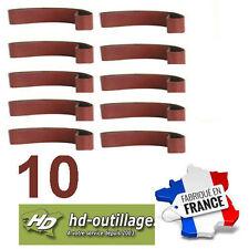 10 bandes toilées 50x2000mm  gr40/60/80/120/400    bois/métal  (Made CE)