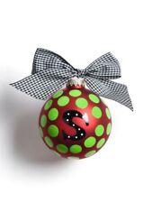 """Coton Colors Coton Colors Initial Dot """"S"""" Glass Ornament"""