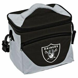 Las Vegas Raiders Halftime Cooler Zipper Insulated Lunch Bag Box Tote 9pk NFL