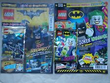 2NEW LEGO BATMAN SPECIAL LTD EDN MAGAZINES EDS 3 +5 BATMAN & JOKER MINIFIGURES
