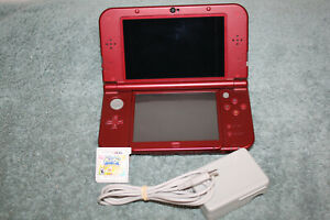 Nintendo 3DS XL (RED) WITH KIRBY GAME AND CHARGER(WORKS GREAT)