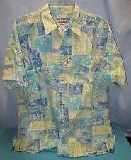 COOKE STREET HONOLULU~LARGE~Men's Leaves Reverse Print S/S Shirt #0510 5008