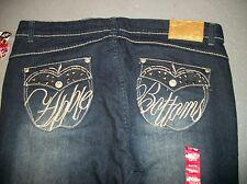 NWT APPLE BOTTOMS EMBROIDERED BOOT CUT JEANS JUNIOR WOMEN'S SZ 13 14