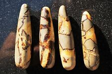 "CHARGED 4.5""  Septarian Dragon Wand Reflexology Massage Crystal Energy Healing"