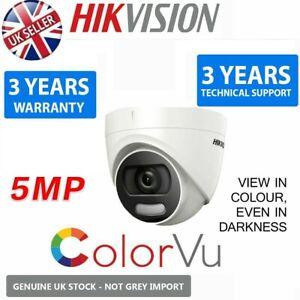 HIKVISION 5MP ColourVu Cam 2K WDR IP67 20M IR 4in1 TVI AHD CCTV Coax 2.8M UK