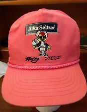 Vtg 80's Rare Alka-Seltzer Racing Speedy  hot pink  adjustable hat