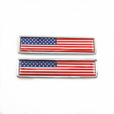 Auto SUV Fenders Tank Cover Body Side USA Flag Style Emblem Metal Sticker Badge