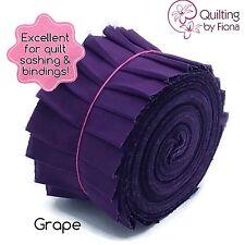 "20 x 2.5"" Grape Purple Jelly Roll PreCut Fabric Strips, 2.5 inch x WOF, Die Cut"