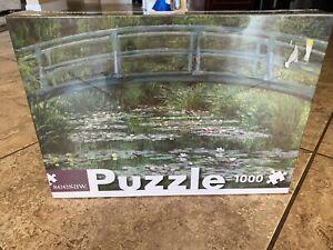 "Seesaw Puzzle 1000 PC. The Japanese Footbridge By Claude Monet 19.7"" X 26.8"""
