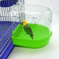 UK Bird Water Bath Tub For Pet Bird Cage Hanging Bowl Parrots Parakeet Birdbath