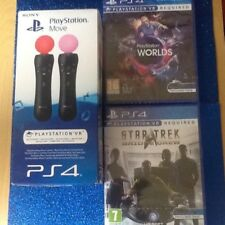 (Ps4) (Star trek vr )  ) (vr PlayStation worlds)Move ) boxed  (new  vr games)ps4