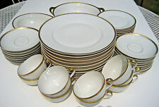 Vintage Theodore Haviland LImoges China Classic Gold Trim Pattern 49 Pieces