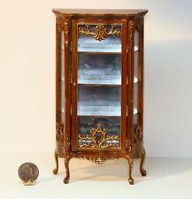 Dollhouse Miniature Exquisite Walnut China Cabinet