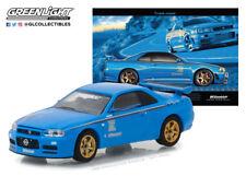 1:64 GreenLight *VINTAGE AD CARS*  2001 Nissan Skyline GT-R R34  *HOBBY EX* NIP
