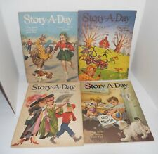 4 Children's Vintage Book - Story a Day 7 Best Stories - Merrill Pub. 1950's