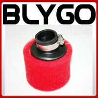 RED 35mm Angle Bent Foam Air Filter Pod Cleaner PIT Quad Dirt Bike ATV Buggy
