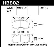 Hawk Performance HB802F.661 HPS Disc Brake Pad Fits 15-17 Mustang