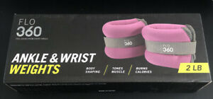 FLO 360 Ankle & Wrist Weights 2 LB Pair: 1 LB Each *New In Box*