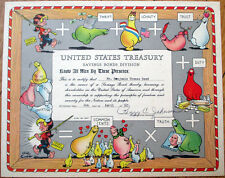 1961 Al Capp/Artist-Signed 'United States Treasury Savings Bond' Certificate