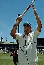 Shane WARNE Signed CRICKET Autograph 12x8 Photo Ashes Australian AFTAL COA