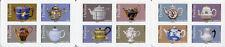 France 2018 MNH Teapots Delft Blue Porcelain 12v S/A Booklet Art Stamps