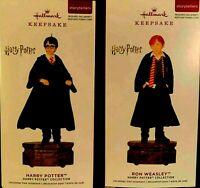 Harry Potter Ron Weasley Set Of 2 Storytellers 2019 Hallmark Ornaments