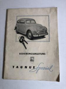 FORD TAUNUS  SPEZIAL 1950 1951  Betriebsanleitung G73A Bedienungsanleitung  BA