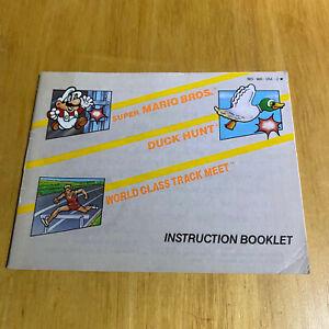 Nintendo NES MANUAL ONLY - NTSC - Super Mario Bros, Duck Hunt & Track Meet