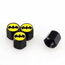 4pcs Black CAR Wheel Tyre Tire Valves Dust Stems Air Caps With Batman Emblem