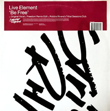 "Live Element ‎- Be Free (12"") (VG-/VG-)"