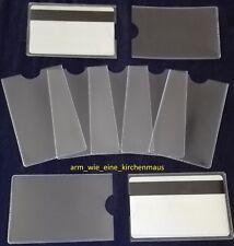 5 EC-Karten - Scheck Kartenhüllen - Kartenschutzhüllen Soft Weich - NEU !!