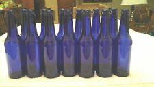 13 Cobalt Blue 12 oz Beer BottlesHerb Wine Vinegar Crafts Garden Glass Tree Yard