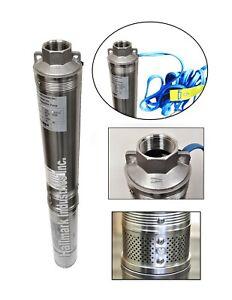 "Deep Well Pump, 3/4HP, 230V/60HZ/1PH 3.2"", 247 ft/13 gpm, Hallmark Industries"