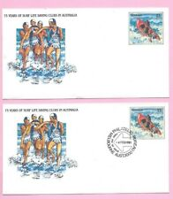 AUSTRALIA 1981 Pair of PSE's #032  FDC & Mint - 75 Years SURF LIFE SAVING CLUBS