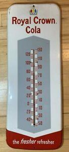 Vintage Original 1961 RC Royal Crown Cola All Metal Thermometer Sign Donasco