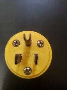 Eagle Yellow Vinyl Cord Plug,No 4867
