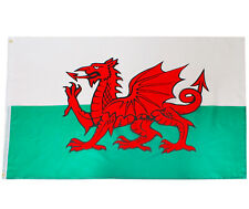 WELSH FLAG 5FT X 3FT WALES NATIONAL FLAGS SPORTS RUGBY FOOTBALL EVENT PARTY