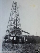 RPPC OIL WELL DERRICK TOWER PEOPLE LOOKING ON! REAL AZO PHOTO c. 1920's POSTCARD