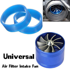Car SUV Supercharger Turbine Turbo Charger Air Filter Intake Fan Fuel Gas Saver