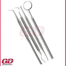 4er Set Zahnarzt Instrumente Zahnsonde Zahnsteinkratzer Hygiene Doppelinstrument