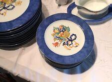 Bernardaud Borghese Limoges 6 Assiettes Dessert Plates.