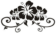 Hibiscus Vinyl Bumper Sticker Car Decal VW Camper (Choice of Colours)