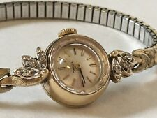14K Solid Gold Omega Ladymatic Automatic Wrist Watch 17J Ladies Womens Cal 484