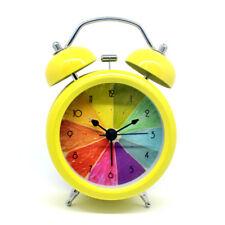 "Novelty 3"" Colored Orange Alarm Clock Non Ticking Night Light Bedroom Clock"