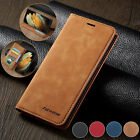 For Samsung A02s A12 S21 S20 FE S9 S10 Leather Wallet Card Flip Phone Case Cover